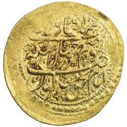 ZAND: Karim Khan, 1753-1779, AV 1/4 mohur (2.74g), Yazd, AH1189. EF