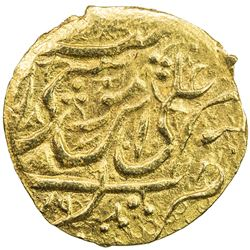 QAJAR: Agha Muhammad Khan, 1779-1797, AV 1/4 mohur (2.73g), Mazandaran, AH1199. EF