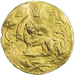 QAJAR: Muhammad Shah, 1837-1848, AV toman (3.45g), Tehran, AH1263. VF-EF