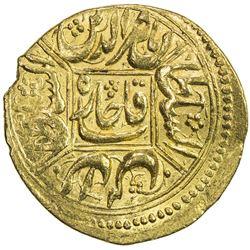 QAJAR: Nasir al-Din Shah, 1848-1896, AV toman (3.46g), Qazwin, AH1271. EF