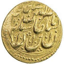 QAJAR: Nasir al-Din Shah, 1848-1896, AV toman (3.41g), Rasht, AH1272. EF
