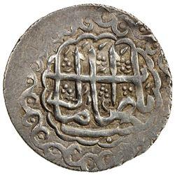 SHIRVAN: Fath 'Ali Khan, 1766-1788, AR abbasi (3.04g), Shamakhi, AH1186. EF