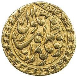 KHWAREZM: Qutlugh Murad Khan, 1856, AV 1/2 tilla (2.24g), Khwarizm, AH1271//1271. VF-EF