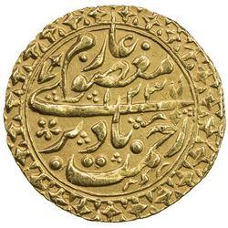 MANGHIT OF BUKHARA: Haidar, 1800-1826, AV tilla (4.53g), Bukhara, AH1235//1234. EF