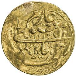 MANGHIT OF BUKHARA: Nasrullah, 1827-1860, AV tilla (4.37g), Bukhara, AH1253//1253. VF