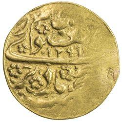 MANGHIT OF BUKHARA: Muzaffar al-Din, 1860-1886, AV tilla (4.53g), Bukhara, AH1291//1291. VF