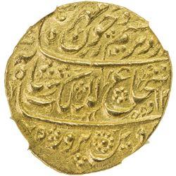 DURRANI: Shah Shuja', 1803-1809/2nd reign, AV mohur, Bahawalpur, AH1218 year 1. NGC MS62