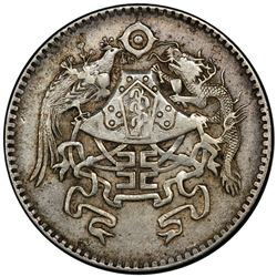 CHINA: Republic, AR 20 cents, year 15 (1926). PCGS AU55