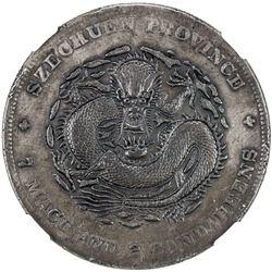 SZECHUAN: Hsuan Tung, 1909-1911, AR dollar, ND (1901-08). NGC AU