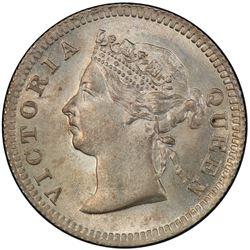 HONG KONG: Victoria, 1841-1901, AR 5 cents, 1901