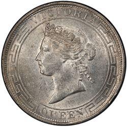 HONG KONG: Victoria, 1841-1901, AR dollar