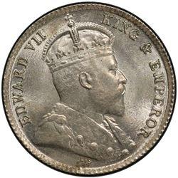 HONG KONG: Edward VII, 1901-1910, AR 5 cents, 1903. PCGS MS66