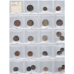 AFGHANISTAN: COLLECTION of 23 local copper coins of the 20th century