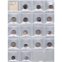 AFGHANISTAN: LOT of 17 silver coins