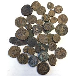 AFGHANISTAN: LOT of 37 copper coins of the 18th and 19th century