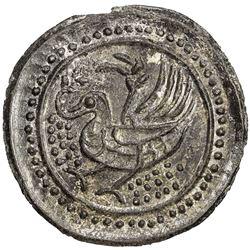 TENASSERIM-PEGU: Anonymous, 17th-18th century, cast large tin coin (40.99g). AU