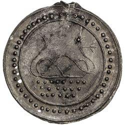 TENASSERIM-PEGU: Anonymous, 17th-18th century, cast large tin coin (25.77g). EF-AU