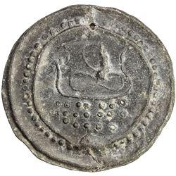 TENASSERIM-PEGU: Anonymous, 17th-18th century, cast large tin coin (38.21g). EF