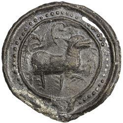 TENASSERIM-PEGU: Anonymous, 17th-18th century, cast large tin coin (41.09g). EF