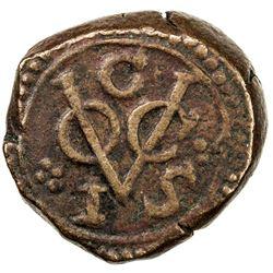 CEYLON (DUTCH): AE 2 stuiver (13.51g), Galle, 1792-G. VF