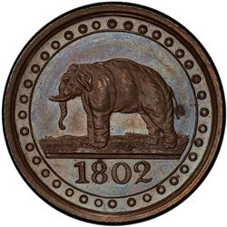 CEYLON: George III, 1796-1820, AE 1/192 rixdollar, 1802. PCGS PF64