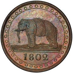 CEYLON: George III, 1796-1820, AE 1/96 rixdollar, 1802. PCGS PF63