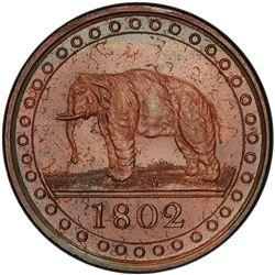 CEYLON: George III, 1796-1820, AE 1/96 rixdollar, 1802. PCGS PF