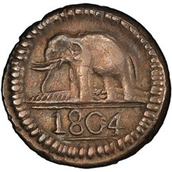 CEYLON: George III, 1796-1820, AR 24 stivers, 1804. PCGS AU55