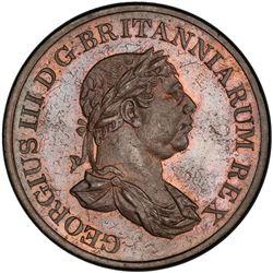 CEYLON: George III, 1796-1820, AE stiver, 1815. PCGS UNC