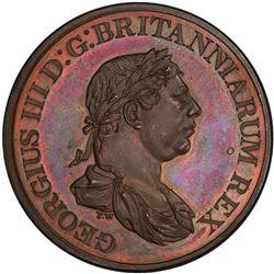 CEYLON: George III, 1796-1820, AE 2 stivers, 1815. PCGS PF65