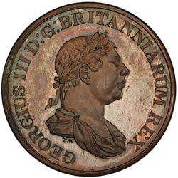 CEYLON: George III, 1796-1820, AE 2 stivers, 1815. PCGS PF64