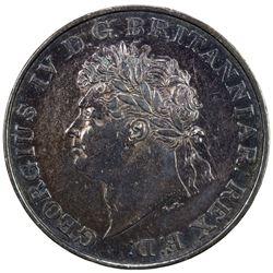 CEYLON: George IV, 1820-1830, AR rixdollar, 1821. EF