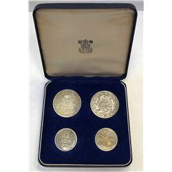 CEYLON: Dominion, 1948-1972, 4-coin proof set, 1957