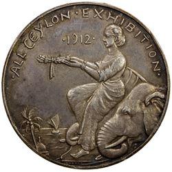 CEYLON: AR medal (29.68g), 1912. EF-AU