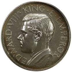 CEYLON: Edward VIII, 1936, AR crown, 1936. PF