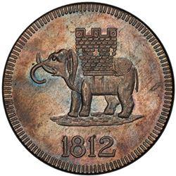 CEYLON: George III, 1796-1820, AR 4 rixdollar, 1812. PCGS MS64