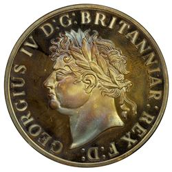 CEYLON: George IV, 1820-1830, AR rixdollar, 1821. PF