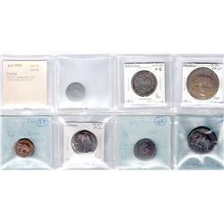 CEYLON: LOT of 7 elephant coins