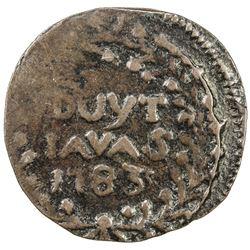 JAVA: AE duit (2.39g), Batavia, 1783. F-VF