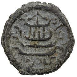 SULU SULTANATE: Muhammad Sharaf al-Din, 1789-1808, tin unit (5.43g), AH1206 (=1789). VF