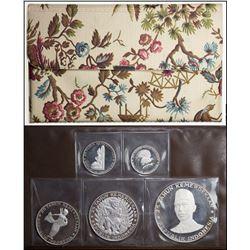 INDONESIA: Republic, 5-coin proof set, 1970