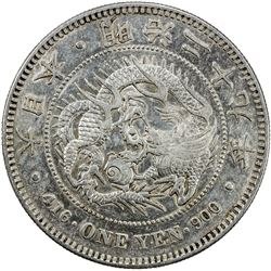 JAPAN: Meiji, 1868-1912, AR yen, year 29 (1896), Y-281.5, EF