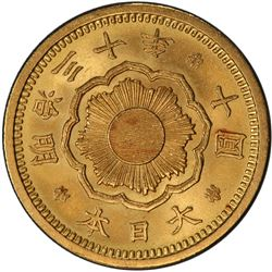 JAPAN: Meiji, 1868-1912, AV 10 yen, year 30 (1897). PCGS MS63