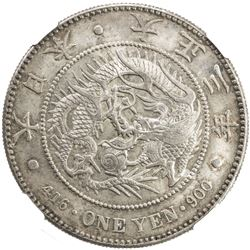 JAPAN: Taisho, 1912-1926, AR yen, year 3 (1914). NGC MS64