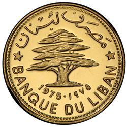 LEBANON: Republic, AV 50 piastres, 1975. PCGS SP67