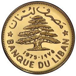 LEBANON: Republic, AV livre, 1975. PCGS SP68