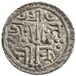 KATHMANDU: Kumudini Deva, regent, 1735-1736, AR 1/4 mohar (1.38g), NS856. EF