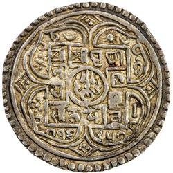 NEPAL: Prithvi Narayan, 1742-1775, AR mohar (5.49g), SE1685. EF