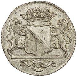 NETHERLANDS EAST INDIES: AR duit (3.84g), Utrecht, 1772. AU
