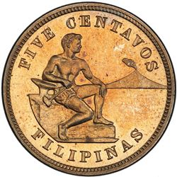 PHILIPPINES: U.S. Territory, 5 centavos, 1904. PCGS PF65